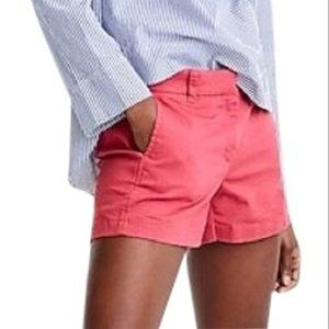 J. Crew Chino broken-in coral shorts